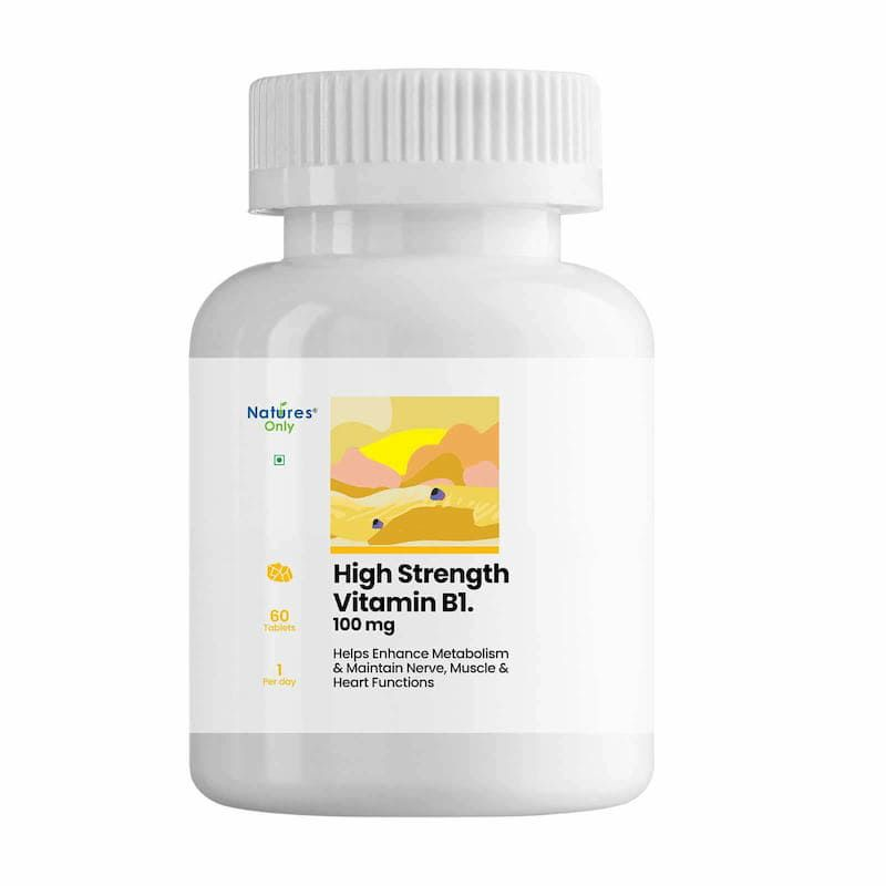 Natures Only High Strength Vitamin B1 100 mg. 60 Tablets